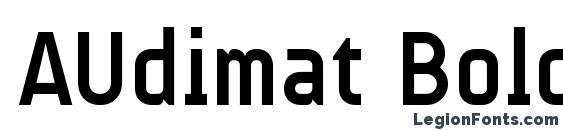 Шрифт AUdimat Bold