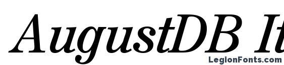 Шрифт AugustDB Italic