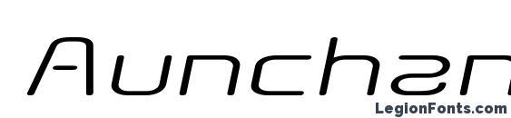 Aunchanted Expanded Oblique Font