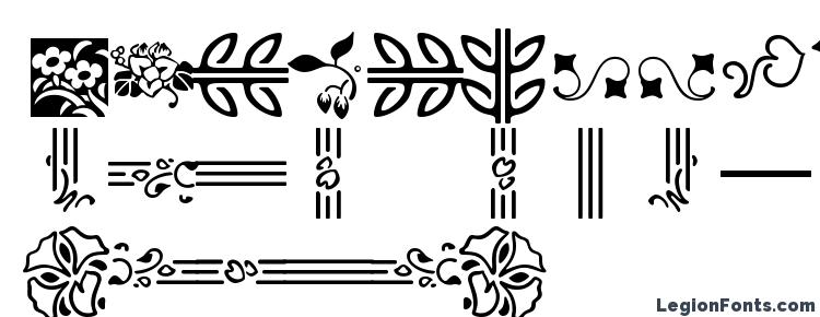 глифы шрифта Auriol Flowers 2, символы шрифта Auriol Flowers 2, символьная карта шрифта Auriol Flowers 2, предварительный просмотр шрифта Auriol Flowers 2, алфавит шрифта Auriol Flowers 2, шрифт Auriol Flowers 2
