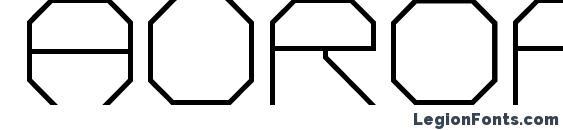 шрифт aurora, бесплатный шрифт aurora, предварительный просмотр шрифта aurora