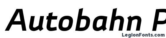Autobahn Pro Bold Italic Font, Bold Fonts