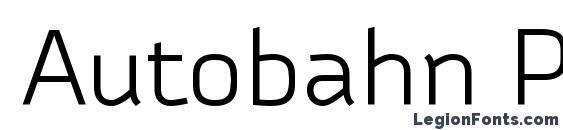 шрифт Autobahn Pro Regular, бесплатный шрифт Autobahn Pro Regular, предварительный просмотр шрифта Autobahn Pro Regular