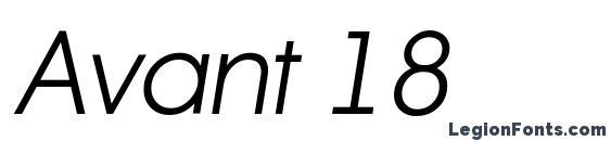 Avant 18 Font, Russian Fonts