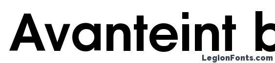 Шрифт Avanteint bold