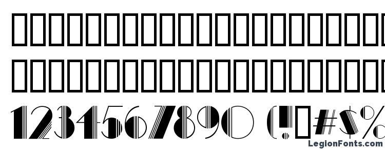 glyphs Avenue Deco font, сharacters Avenue Deco font, symbols Avenue Deco font, character map Avenue Deco font, preview Avenue Deco font, abc Avenue Deco font, Avenue Deco font