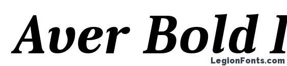 Шрифт Aver Bold Italic