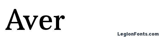 шрифт Aver, бесплатный шрифт Aver, предварительный просмотр шрифта Aver