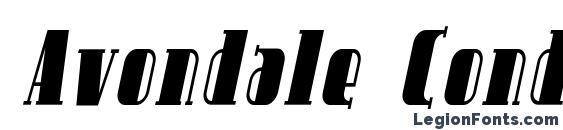 Шрифт Avondale Cond Italic