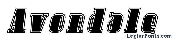 Avondale Inline Italic Font