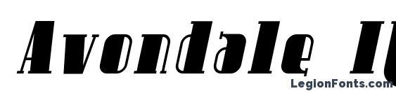 Шрифт Avondale Italic