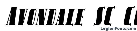 Avondale SC Cond Italic Font