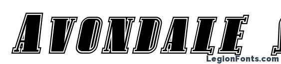 Avondale SC Inline Italic Font