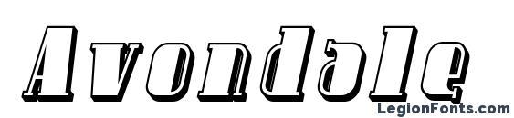 Шрифт Avondale Shaded Italic