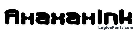 шрифт AxaxaxInk, бесплатный шрифт AxaxaxInk, предварительный просмотр шрифта AxaxaxInk