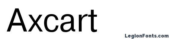 Шрифт Axcart