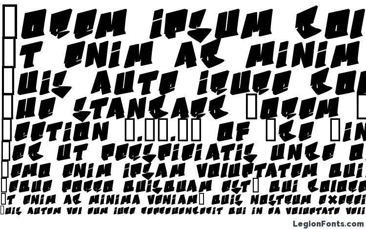 specimens B boy font, sample B boy font, an example of writing B boy font, review B boy font, preview B boy font, B boy font