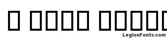 B Niki Border Font