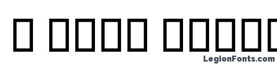Шрифт B Niki Outline Italic