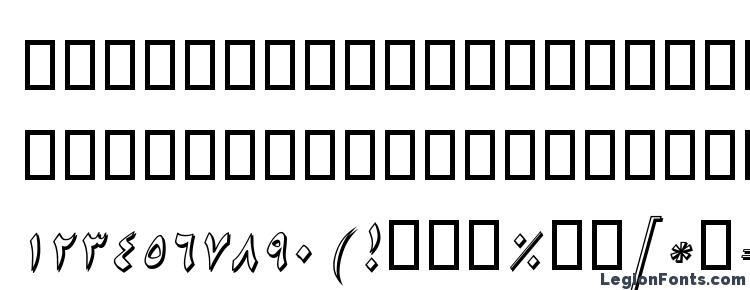 глифы шрифта B Niki Shadow Italic, символы шрифта B Niki Shadow Italic, символьная карта шрифта B Niki Shadow Italic, предварительный просмотр шрифта B Niki Shadow Italic, алфавит шрифта B Niki Shadow Italic, шрифт B Niki Shadow Italic