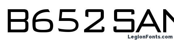шрифт B652 Sans Regular, бесплатный шрифт B652 Sans Regular, предварительный просмотр шрифта B652 Sans Regular