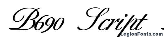 шрифт B690 Script Bold, бесплатный шрифт B690 Script Bold, предварительный просмотр шрифта B690 Script Bold