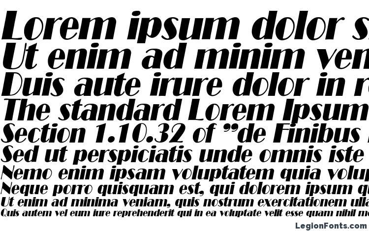 specimens B821 Deco Italic font, sample B821 Deco Italic font, an example of writing B821 Deco Italic font, review B821 Deco Italic font, preview B821 Deco Italic font, B821 Deco Italic font