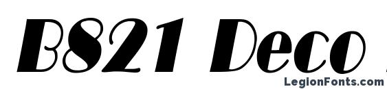 B821 Deco Italic Font