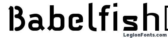 Шрифт Babelfish1