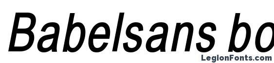 Babelsans boldoblique Font