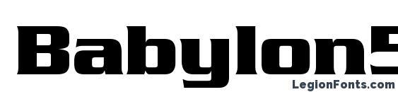 Шрифт Babylon5