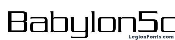 Babylon5credits Font
