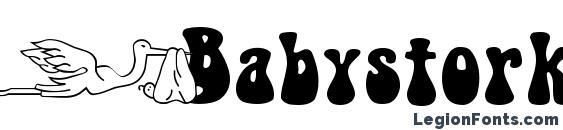 Шрифт Babystork becker