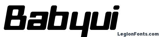 Babyui Font, Bold Fonts
