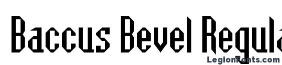 Baccus Bevel Regular Font