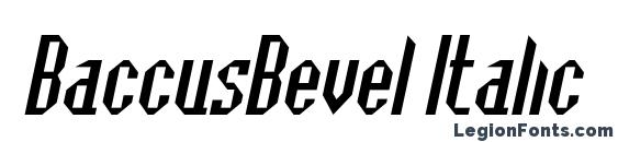 BaccusBevel Italic font, free BaccusBevel Italic font, preview BaccusBevel Italic font
