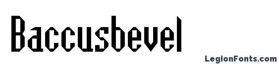 шрифт Baccusbevel, бесплатный шрифт Baccusbevel, предварительный просмотр шрифта Baccusbevel