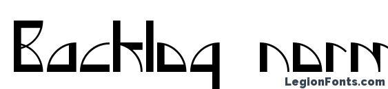Backlog normal Font
