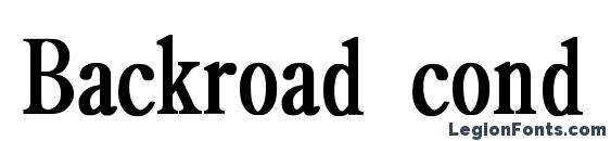Backroad cond bold Font