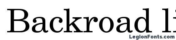 Шрифт Backroad light