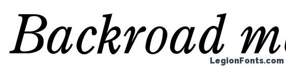 Шрифт Backroad modern italic
