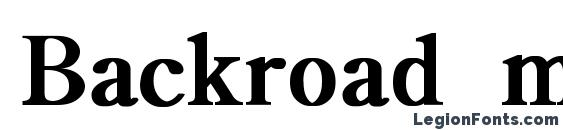 Backroad modern light bold Font