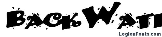 BackWater52 Bold Font