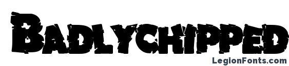 Шрифт Badlychipped66 bold