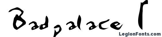 Badpalace 1 Font