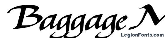 Шрифт BaggageMasterText79 Bold