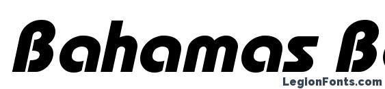 Шрифт Bahamas Bold Italic