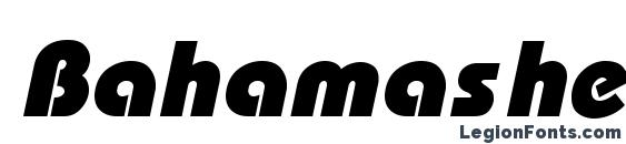 Шрифт Bahamas heavyx