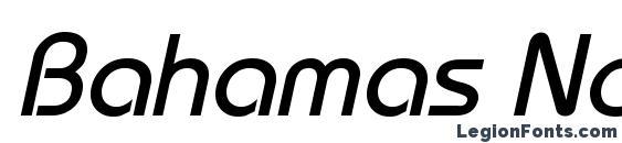 Bahamas Normal Italic Font