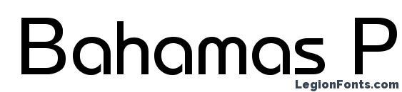 Шрифт Bahamas Pragmatica